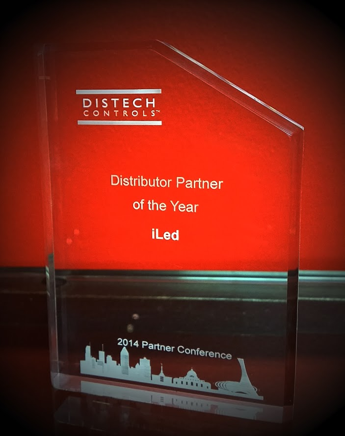 iLED Wins Award at Distech Controls Partner Conference 2014 in Montreal