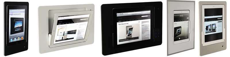 iRoom iPad docking stations with glass bezel……